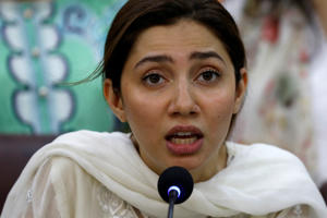 Pakistani actor Mahira Khan speaks to condemn the killing of a ten-year-old girl, who was abducted and killed in Islamabad, also demanding for the implementation of Life Skilled Based Education (LSBE) curriculum for schools, during a news conference in Karachi, Pakistan May 23, 2019. REUTERS/Akhtar Soomro