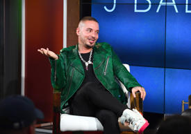 NEW YORK, NY - AUGUST 01:  J Balvin speaks onstage during the YouTube Music premiere of J Balvin artist spotlight story 'Redefining Mainstream' at YouTube Space on August 1, 2018 in New York City.  (Photo by Nicholas Hunt/Getty Images for YouTube Music)