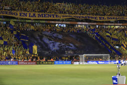 MONTERREY, MEXICO - MAY 23: Fans of Tigres cheer prior the Final first leg match between Tigres UANL and Leon as part of the Torneo Clausura 2019 Liga MX at Universitario Stadium on May 23, 2019 in Monterrey, Mexico. (Photo by Alfredo Lopez/Jam Media/Getty Images)