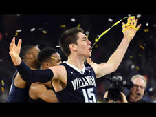 a person standing in front of a crowd: Villanova defeats North Carolina 77-74 in the 2016 National Championship on the back of a buzzer-beating 3-pointer from Kris Jenkins.  Sign up for the 2019 Bracket Challenge Game here: https://bracketchallenge.ncaa.com/?cid=BCG2019_Editorial_YouTube_01281  Watch highlights, game recaps, and much more from the 2016 NCAA Division I Men's Basketball Tournament on the official NCAA March Madness YouTube channel. Subscribe now to be updated on the latest videos: http://www.youtube.com/marchmadness?sub_confirmation=1  Connect with March Madness: Follow March Madness on Twitter: https://twitter.com/marchmadness Like March Madness on Facebook: https://www.facebook.com/NCAAMarchMadness Follow March Madness on Instagram: https://instagram.com/marchmadness