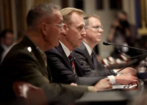 WASHINGTON, DC - MAY 08:  Acting Defense Secretary Patrick Shanahan testifies before the Senate Appropriations Committee May 8, 2019 in Washington, DC. Shanahan and Joint Chiefs of Staff Chairman Gen. Joseph Dunford briefed the committee on the proposed budget estimates and justification for fiscal year 2020 for the Defense Department. (Photo by Win McNamee/Getty Images)