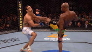 a person standing in front of a crowd: Former UFC middleweight champion and MMA legend, Anderson Silva, has accumulated quite the highlight reel of knockout and submission victories. Check out Silva's top five finishes in his UFC career.  Subscribe to get all the latest UFC content: http://bit.ly/2uJRzRR  Experience UFC live with UFC FIGHT PASS, the digital subscription service of the UFC. To start your 7-day free trial, visit http://www.ufc.tv/packages  To order UFC Pay-Per-Views, visit http://www.ufc.tv/events   Connect with UFC online and on Social: Website: http://www.ufc.com Twitter: http://www.twitter.com/ufc Facebook: http://www.facebook.com/ufc Instagram: http://www.instagram.com/ufc Snapchat: UFC Periscope: http://Periscope.tv/ufc  Connect with UFC FIGHT PASS on Social: Twitter: http://www.twitter.com/ufcfightpass Facebook: http://www.facebook.com/ufcfightpass Instagram: http://www.instagram.com/ufcfightpass