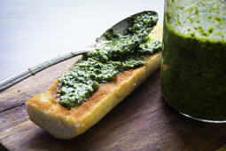 WASHINGTON, DC-July 22: Dandelion Greens Pesto. (Photo by Scott Suchman/For the Washington Post)