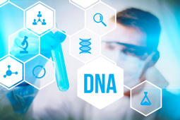 DNA molecule research or forensic science use.