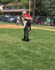 Little League player surprised after Marine dad takes the mound