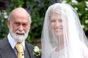 Lady Gabriella Windsor with her father Prince Michael of Kent are seen during her wedding to Mr Thomas Kingston at St George's Chapel in Windsor Castle, near London, Britain May 18, 2019. Chris Jackson/Pool via REUTERS