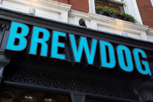 Sign for the well known craft brewery and pub chain brand Brewdog in London, England, United Kingdom. (photo by Mike Kemp/In Pictures via Getty Images)
