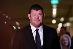 James Packer at Crown Casino in Melbourne