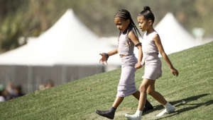 INDIO, CALIFORNIA - APRIL 21: North West (L) and Ryan Romulus attend Sunday Service during the 2019 Coachella Valley Music And Arts Festival on April 21, 2019 in Indio, California. (Photo by Rich Fury/Getty Images for Coachella)