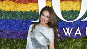 Thalia arrives at the 73rd annual Tony Awards at Radio City Music Hall on Sunday, June 9, 2019, in New York. (Photo by Evan Agostini/Invision/AP)