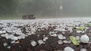 Freak hailstorm hits Germany