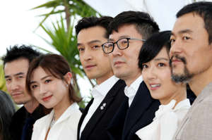 "72nd Cannes Film Festival - Photocall for the film ""The Wild Goose Lake"" (Nan Fang Che Zhan De Ju Hui) in competition - Cannes, France, May 19, 2019. Director Diao Yinan and cast members Hu Ge, Liao Fan, Gwei Lun-Mei, Wan Qian, Qi Dao pose. REUTERS/Jean-Paul Pelissier"