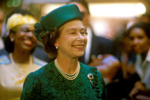 Queen Elizabeth II, Bahamas, 15th October 1985. (Photo by John Shelley Collection/Avalon/Getty Images)