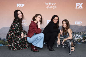 "Mikey Madison, Hannah Alligood, Pamela Adlon and Olivia Edward arrive at the FYC Red Carpet Event For Season 3 Of FX's ""Better Things"" at the Saban Media Center on May 10, 2019 in North Hollywood, California."