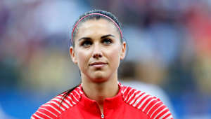 Soccer Football - Women's World Cup - Group F - United States v Thailand - Stade Auguste-Delaune, Reims, France - June 11, 2019  Alex Morgan of the U.S. lines up before the match   REUTERS/Christian Hartmann