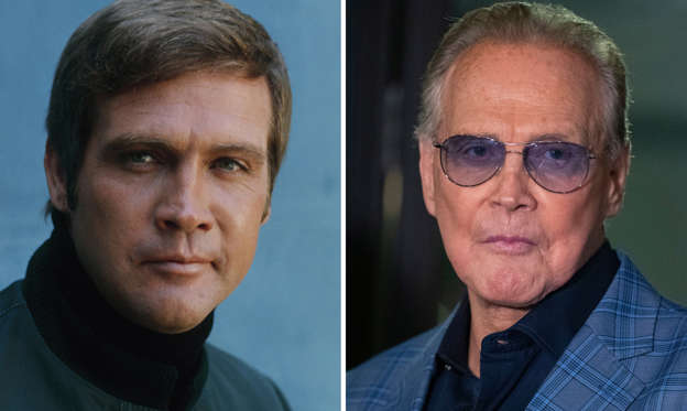 Folie 1 von 45: Shoot date in August 1973; Lee Majors attends the unveiling of the 'Batman' and 'The Six Million Dollar Man' exhibition at the Hollywood Museum in Los Angeles, USA, 14 May 2019.