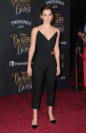 LOS ANGELES, CA - MARCH 02:  Actress Emma Watson arrives at the Los Angeles Premiere 'Beauty And The Beast' at El Capitan Theatre on March 2, 2017 in Los Angeles, California.  (Photo by Jon Kopaloff/FilmMagic)