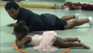 Russell Wilson takes ballet with his daughter