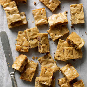 a pile of food: Chocolate-Chip-Blondies_EXPS_CMZ18_10578_B10_20_6b-1