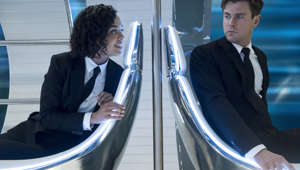"Szene aus ""Men in Black: International"": Chris Hemsworth und Tessa Thompson als Agent H und Agent M"