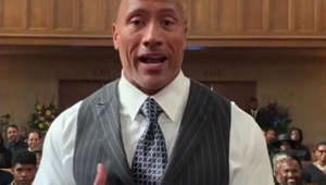 Dwayne Johnson delivers inspirational message to ailing superfan