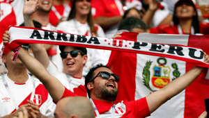 Soccer Football - World Cup - Group C - Australia vs Peru - Fisht Stadium, Sochi, Russia - June 26, 2018   Peru fans before the match   REUTERS/Max Rossi