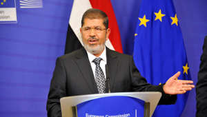 BRUSSELS, BELGIUM - (ARCHIVE) : A file photo dated September 13, 2012 shows Ousted Egyptian President Mohamed Morsi speaking at a press conference in Brussels, Belgium. Egypts first democratically-elected president, Mohamed Morsi, 67, died Monday during a court trial on espionage charges.  (Photo by Dursun Aydemir/Anadolu Agency/Getty Images)