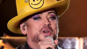 ATLANTIC CITY, NJ - NOVEMBER 18:  Boy George of Culture Club performs in concert at Golden Nugget on November 18, 2017 in Atlantic City, New Jersey.  (Photo by Donald Kravitz/Getty Images)