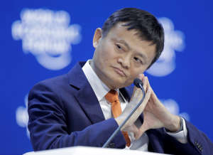 Alibaba founder Jack Ma listens during the annual meeting of the World Economic Forum in Davos, Switzerland, Wednesday, Jan. 24, 2018. (AP Photo/Markus Schreiber)