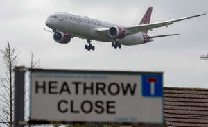 File photo dated 05/06/18 of a plane approaching Heathrow Airport in west London viewed from the village of Longford. Labour's leadership opposes plans for a third runway at Heathrow but will give its MPs a free vote on the proposals, the party has announced.