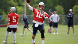 New England Patriots quarterback Tom Brady (12) passes the ball during an NFL football training camp, Thursday, June 6, 2019, in Foxborough, Mass. (AP Photo/Steven Senne)