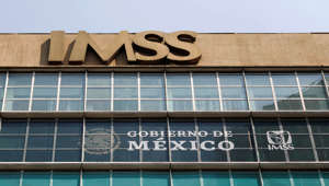 A logo of Mexican Institute of Social Security (IMSS) is pictured in Mexico City, Mexico, May 22, 2019. REUTERS/Edgard Garrido