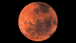 Mars the red planet black background