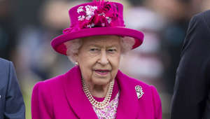 EGHAM, ENGLAND - JUNE 23:  Queen Elizabeth II attends The Royal Windsor Cup Final at Guards Polo Club on June 23, 2019 in Egham, England. (Photo by Mark Cuthbert/UK Press via Getty Images)
