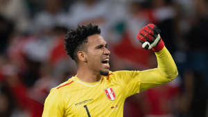 SINSHEIM, GERMANY - SEPTEMBER 09: Goalkeeper Pedro Gallese of Peru celebrates during the International Friendly match between Germany and Peru on September 9, 2018 in Sinsheim, Germany. (Photo by Matthias Hangst/Bongarts/Getty Images)