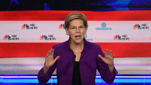 Democratic presidential hopeful US Senator from Massachusetts Elizabeth Warren participates in the first Democratic primary debate of the 2020 presidential campaign season hosted by NBC News at the Adrienne Arsht Center for the Performing Arts in Miami, Florida, June 26, 2019. (Photo by JIM WATSON / AFP)        (Photo credit should read JIM WATSON/AFP/Getty Images)
