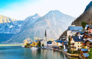 Hallstatt is a little quiet town with mountain and lake views that is absolutely captivating.