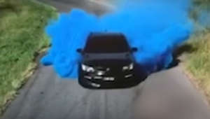 Gender reveal party goes wrong as car bursts into flames