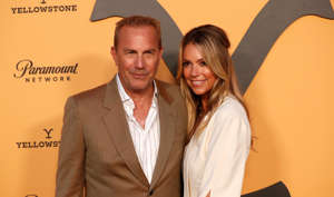 "Cast member Kevin Costner and his wife Christine Baumgartner pose at a premiere party for season 2 of the television series ""Yellowstone"" in Los Angeles, California, U.S., May 30, 2019. REUTERS/Mario Anzuoni"