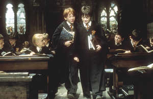 Harry Potter And The Philosopher's Stone (Left-Right) Rupert Grint and Daniel Radcliffe © Warner Brothers International Television