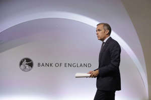 Mark Carney, Governor of the Bank of England arrives at the start of a Financial Stability Report press conference at the Bank of England in London on July 11, 2019. - Bank of England governor Mark Carney on Thursday gave outgoing IMF chief Christine Lagarde his warm support as she heads to the European Central Bank, but evaded questions about whether he wants to succeed her. (Photo by Matt Dunham / POOL / AFP)        (Photo credit should read MATT DUNHAM/AFP/Getty Images)