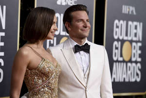 Irina Shayk, left, and Bradley Cooper arrive at the 76th annual Golden Globe Awards at the Beverly Hilton Hotel on Sunday, Jan. 6, 2019, in Beverly Hills, Calif. (Photo by Jordan Strauss/Invision/AP)