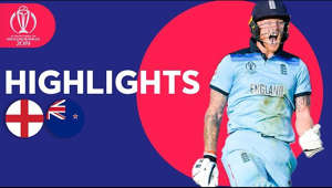 a person with collar shirt: Watch full highlights of the England vs New Zealand match at Lord's, the Final of the 2019 Cricket World Cup.  The home of all the highlights from the ICC Men's Cricket World Cup 2019.  Subscribe here: https://bit.ly/30D11CA  #CWC19  This is the official channel of the ICC - the governing body of international cricket.