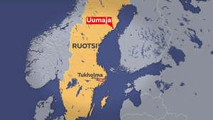 Lentokone putosi lähellä Uumajaa Västerbottenin läänissä.