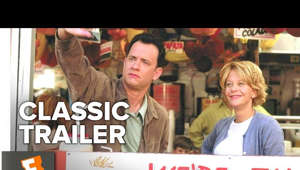 Tom Hanks in a newspaper: You've Got Mail (1998) Official Trailer - Tom Hanks, Meg Ryan Movie HD Subscribe to CLASSIC TRAILERS: http://bit.ly/1u43jDe Subscribe to TRAILERS: http://bit.ly/sxaw6h Subscribe to COMING SOON: http://bit.ly/H2vZUn Like us on FACEBOOK: http://bit.ly/1QyRMsE Follow us on TWITTER: http://bit.ly/1ghOWmt  Two business rivals hate each other at the office but fall in love over the internet.  Welcome to the Fandango MOVIECLIPS Trailer Vault Channel. Where trailers from the past, from recent to long ago, from a time before YouTube, can be enjoyed by all. We search near and far for original movie trailer from all decades. Feel free to send us your trailer requests and we will do our best to hunt it down.