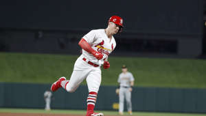 St. Louis Cardinals' Tyler O'Neill rounds the bases after hitting a two-run home run during the seventh inning of a baseball game against the Pittsburgh Pirates, Monday, July 15, 2019, in St. Louis. (AP Photo/Jeff Roberson)
