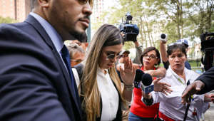 "Emma Coronel Aispuro, the wife of Joaquin Guzman, the Mexican drug lord known as ""El Chapo"", arrives at the Brooklyn Federal Courthouse, for the sentancing of Guzman in the Brooklyn borough of New York, U.S., July 17, 2019.  REUTERS/Brendan McDermid"