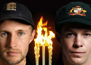 FILE PHOTO (EDITORS NOTE: GRADIENT ADDED - COMPOSITE OF THREE IMAGES - Image numbers (L-R) 961387956, 1801824 and 876450976) In this composite image a comparison has been made between Joe Root, captain of England (L) and Tim Paine, captain of Australia. The two teams will compete in the upcoming 2019 Ashes Test Match series. The first match of the series starts at Edgbaston on August 1, 2019 in Birmingham,England.  ***LEFT  IMAGE*** LONDON, ENGLAND - MAY 22: Joe Root of England poses for a portrait at Lord's Cricket Ground on May 22, 2018 in London, England. (Photo by Gareth Copley/Getty Images) ***CENTER IMAGE*** BRIGHTON - AUGUST 16: Cricket idents taken during a photshoot held on August 16, 2002, in Brighton, England. (Photo by Mike Hewitt/Getty Images) ***RIGHT IMAGE*** BRISBANE, AUSTRALIA - NOVEMBER 20: Tim Paine of Australia poses during the Australia Test cricket team portrait session on November 20, 2017 in Brisbane, Australia. (Photo by Ryan Pierse/Getty Images)
