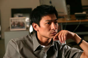 Pop star Andy Lau Tak-wah at his office in Kwun Tong. 02 JUNE 2003 (Photo by K. Y. Cheng/South China Morning Post via Getty Images)