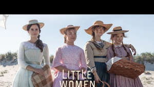 a close up of a mans face: This Christmas, own your story. 🖊 Watch the new #LittleWomenMovie trailer now.  Visit Site: https://www.littlewomen.movie/?hs308=youtubeorg  Follow Us on Social: https://www.facebook.com/LittleWomenMovie https://www.instagram.com/LittleWomenMovie https://www.twitter.com/LittleWomen  Subscribe to Sony Pictures for exclusive content: http://bit.ly/SonyPicsSubscribe  Writer-director Greta Gerwig (Lady Bird) has crafted a Little Women that draws on both the classic novel and the writings of Louisa May Alcott, and unfolds as the author's alter ego, Jo March, reflects back and forth on her fictional life.  In Gerwig's take, the beloved story of the March sisters – four young women each determined to live life on her own terms --  is both timeless and timely.  Portraying Jo, Meg, Amy, and Beth March, the film stars Saoirse Ronan, Emma Watson, Florence Pugh, Eliza Scanlen, with Timothée Chalamet as their neighbor Laurie, Laura Dern as Marmee, and Meryl Streep as Aunt March.  Directed by: Greta Gerwig  Screenplay by: Greta Gerwig  Based on the Novel by: Louisa May Alcott  Produced by:  Amy Pascal Denise Di Novi Robin Swicord  Executive Producers:  Arnon Milchan Adam Merims Evelyn O'Neill Rachel O'Connor  Cast: Timothée Chalamet Chris Cooper Laura Dern Louis Garrel Tracy Letts James Norton Bob Odenkirk Florence Pugh Saoirse Ronan Eliza Scanlen Meryl Streep Emma Watson  #OfficialTrailer #Sony #SaoirseRonan #EmmaWatson #FlorencePugh #ElizaScanlen #TimotheeChalamet #LauraDern #MerylStreep
